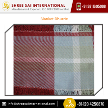 Finest Quality Raw Material Blanket Dhurrie from Top Dealer