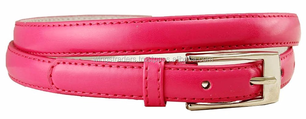 Genuine Leather Belt For Women With Solid Color For Ladies Dress