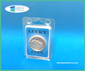 Clear Coin Clamshell Packaging with Insert Cards