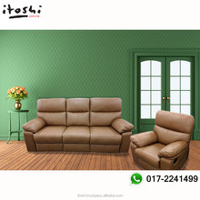 High quality classic leather comfortable sofa with multiple option recliner sofa elegant living room sofa set Malaysia NFREC1007