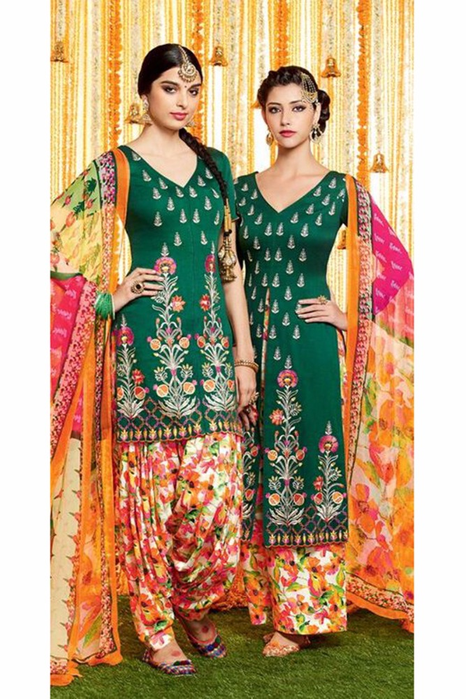 Cotton Printed Patiala Salwar Kameez/Indian Punjabi Suits/Latest Low Price Salwar Kameez 2016/Wholesale Shop In Surat India