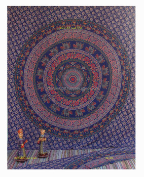 Mandala Hippie Tapestry Tapestries Wall Hanging Indian Tapestry Queen Bedspread Fashion Home Decor Tribal