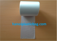 thin clear cheap plastic bag on roll HDPE starsealed bag