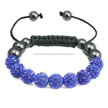 Shamballa Bracelet adjustable light blue shamballa bracelet