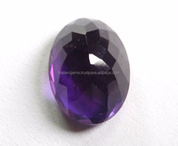 Natural Crystal Quartz Violet African Amethyst Round Rose Cut Gemstone