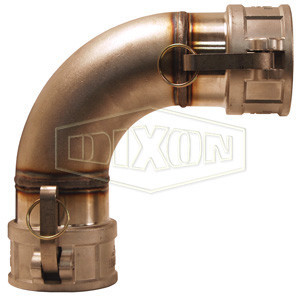 "Dixon 300DD-90SS 3"" 316 Stainless Steel Cam and Groove x Cam and Groove 90 deg. Elbow - Female Coupler x Female"