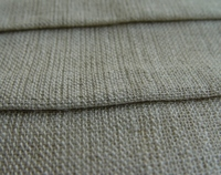 Corrugated linen cotton fabric Natural