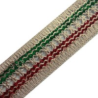 Crafting Maroon Sewing Trim Braided Ribbon Striped Style Border Lace