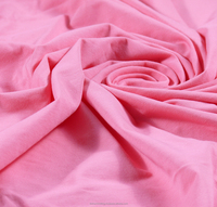 95% Cotton -5% Spandex Single Knitted Fabric - Rose
