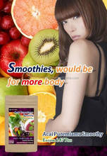 This smoothie is health care supplies that contains a lot of antioxidants for remove the active oxygen.