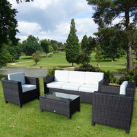 Luxury Outdoor Patio PE Rattan Wicker Sofa Set NFRT02