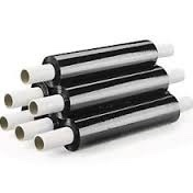 Black Color Extended Core 400mm Standard Hand Type Stretch Film 17 Mic (150% Pre-stretching)