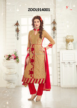 Georgette Chudidar Semi Stitch Suits