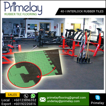Most Solidly Built and Interlocking Rubber Tile for Gym