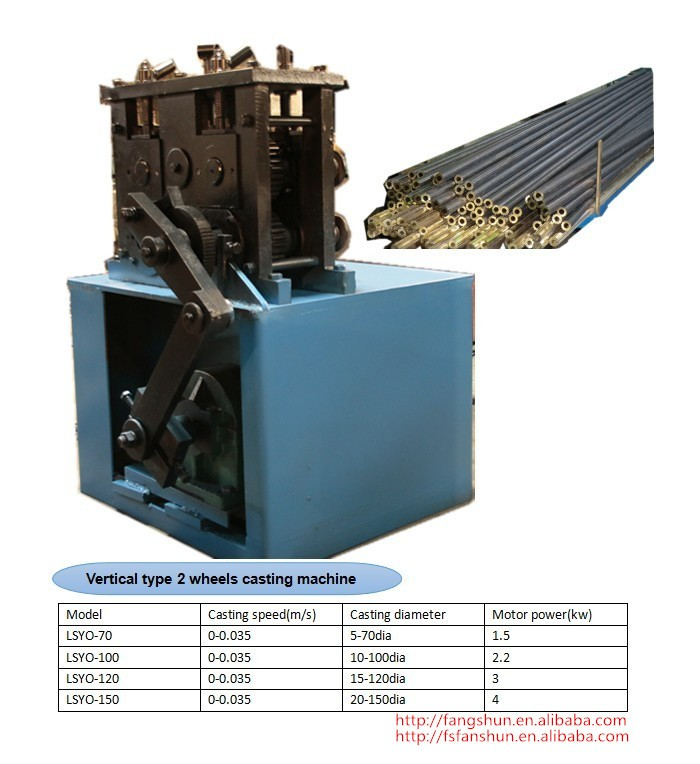 Vertical/Horizontal type copper brass/aluminum casting machine for sale of China