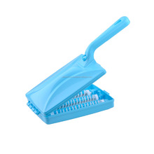 Plastic mini rolling table / carpet crumb brush with high quality plastic handle