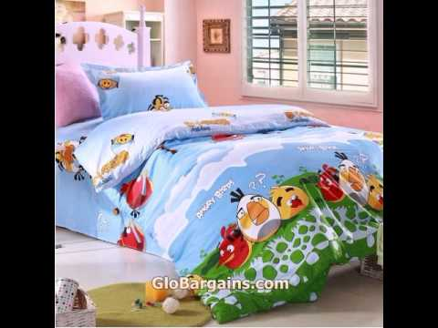 Hot Cheap Popular Angry Birds Bedding Set for Kids Boys Girls Twin Full Queen