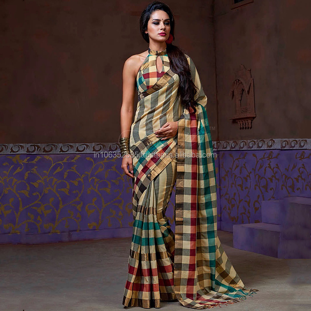 Multi Color Handloom Cotton Silk Saree
