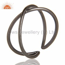 Supplier of Black Oxidized 925 Silver Handmade Infinity Stylish Stackable Ring