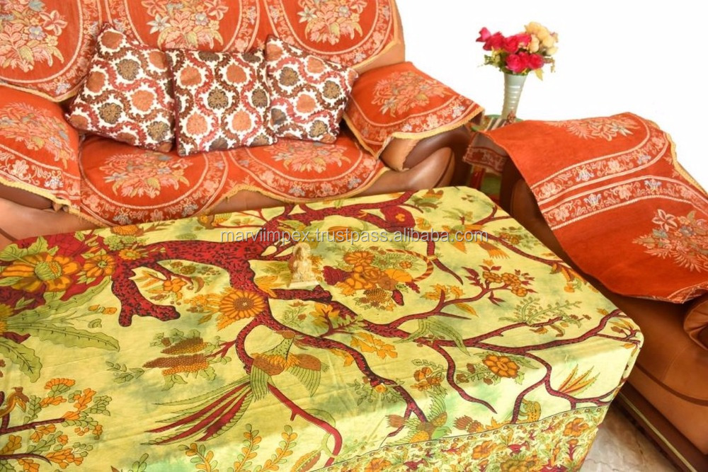 Story of Tree Cotton Made Stunning Double Bedsheet Mandala Tapestry