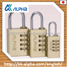 Alpha Combination padlock by only full-line lock and key manufacturer Alpha