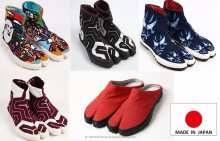 Durable and High quality male shoes tabi shoes with multiple functions made in Japan