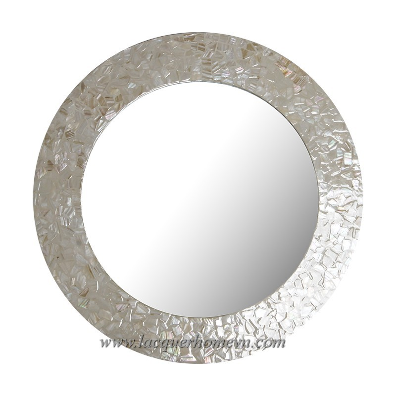 HT3126 Vietnam MDF lacquered inlaid mother of pearl mirror frame - www.lacquerhomevn.com
