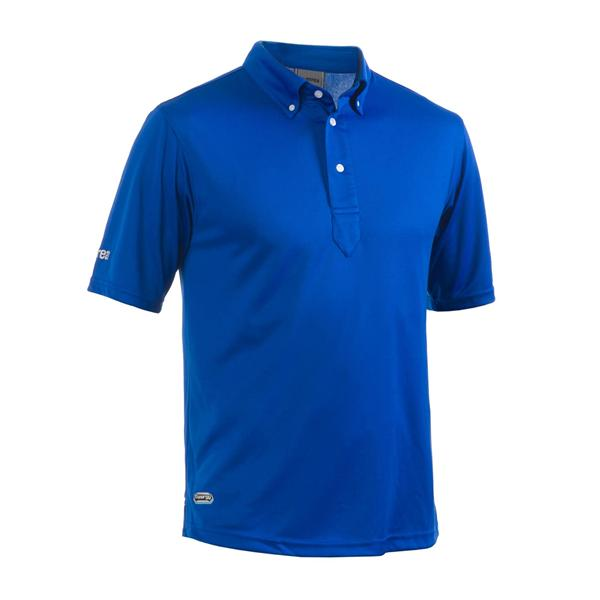 100% Cotton Polo Shirt Color Blue with short sleeves for men and women for summer collection with high quality