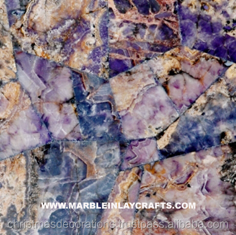 Hand Made Natural Stone Amethyst Slab