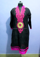 new style designer embroidered kurti patterns