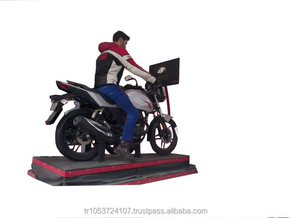 MOTORBIKE / MOTORCYCLE DRIVING TRAINING SIMULATOR (REAL EQUIPMENT / MOTION PLATFORM 2-6 DOF)