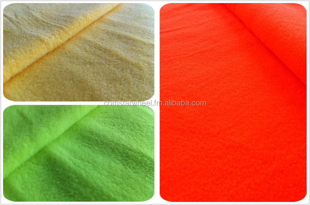 Quick delivery, good price Hi-visibiliy Polyester Micro Polar Fleece Fabric for hoodie and sweatshirt