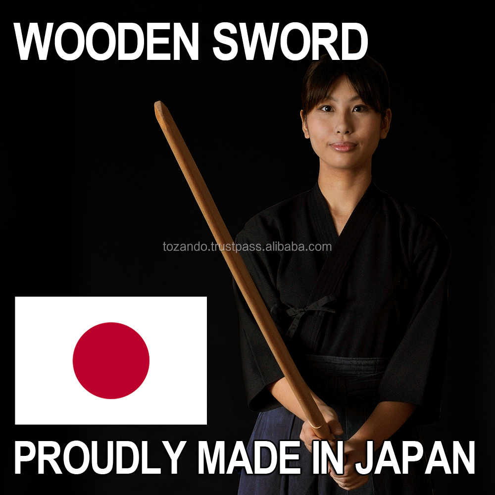 Japanese and Handmade kung fu sword wooden sword with white oak made in Japan