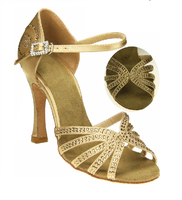 Signature Series Wedding Dance Party Shoes with Rhinestone, Bridal Shoes, Latin Salsa Ballroom Dance Shoes - HGB-52739