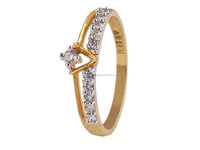HIGH QUALITY 0.23 CTS NATURAL DIAMONDS RING IN SOLID HALLMARK 18KT YELLOW GOLD AT WHOLESALE PRICES