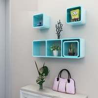 Wooden Cube Wall Shelves