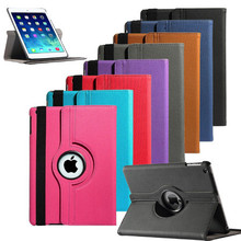 360 rotation Leather Case for iPad Air 2