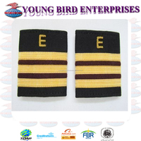 EPAULETTE AIRCRAFT ENGINEERS 3 GOLD-MAROON WITH E | FLIGHT OFFICER BOARD EPAULETTES GOLD | GOLD BULLION WIRE BRAID RANK SLIDER