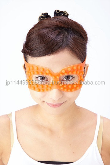 Easy to use Innovative Portable Eye Massager with silicone material made in Japan