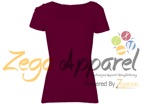Zegaapparel Sex Girl Fashion Two-tone plain color T-shirt sport with logo (80)