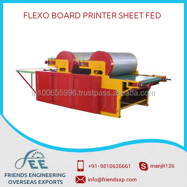 Flexo Board Printer Sheet Fed Used For Transfer Of Image In Corrugation Printing Machine