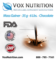 Mass Gainer Protein 35 g. Chocolate Supplement Bulk Powder, Private Label Protein Powder Supplement
