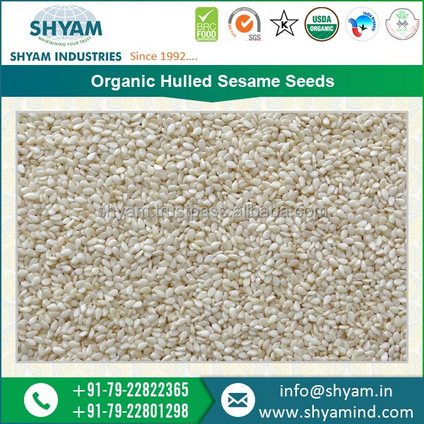 Best Quality Indian Organic Hulled Sesame Seeds 99.98% Purity, Color sortex