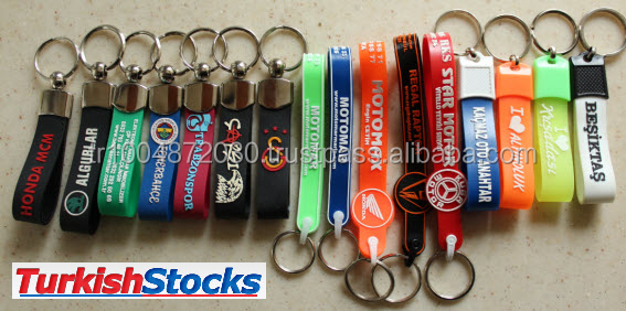 Special Customized Silicone 2D 3D logo mobile keychains