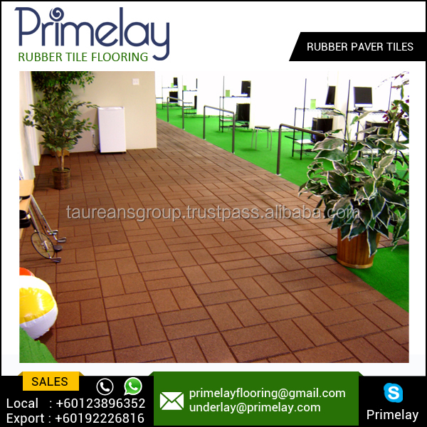Superb Against Slip Outdoor Court Yard Rubber Paver Tile for Export