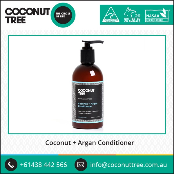 Australian Best Quality of Herbal Organic Coconut and Argan Cosmetic Hai Conditioner