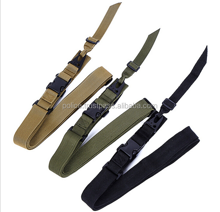 Airsoft War Game Three Point Bungee Rifle Gun Adjustable police Gun Sling Strap belt