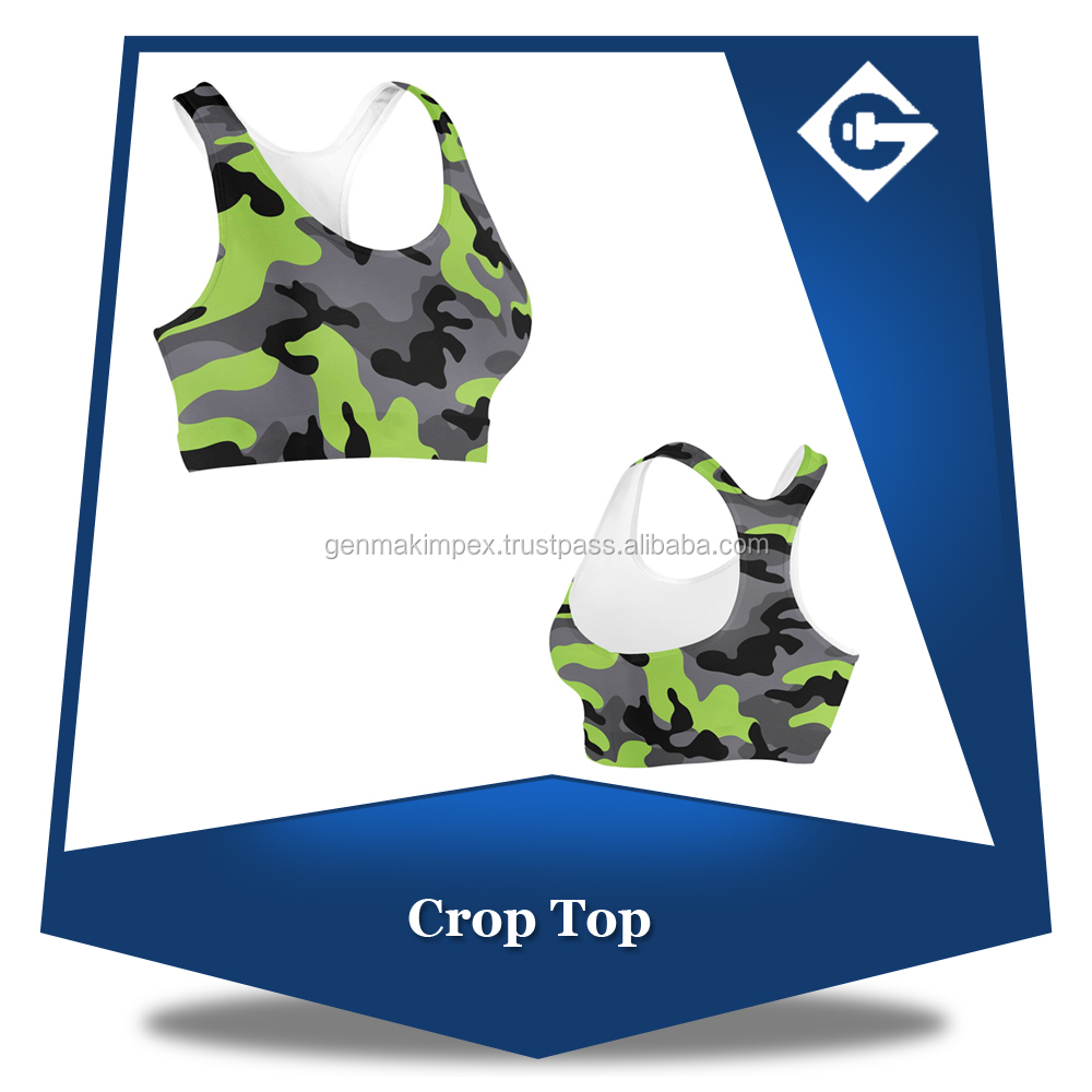 Ladies professional sublimation Girls sports bra compression fit racer back