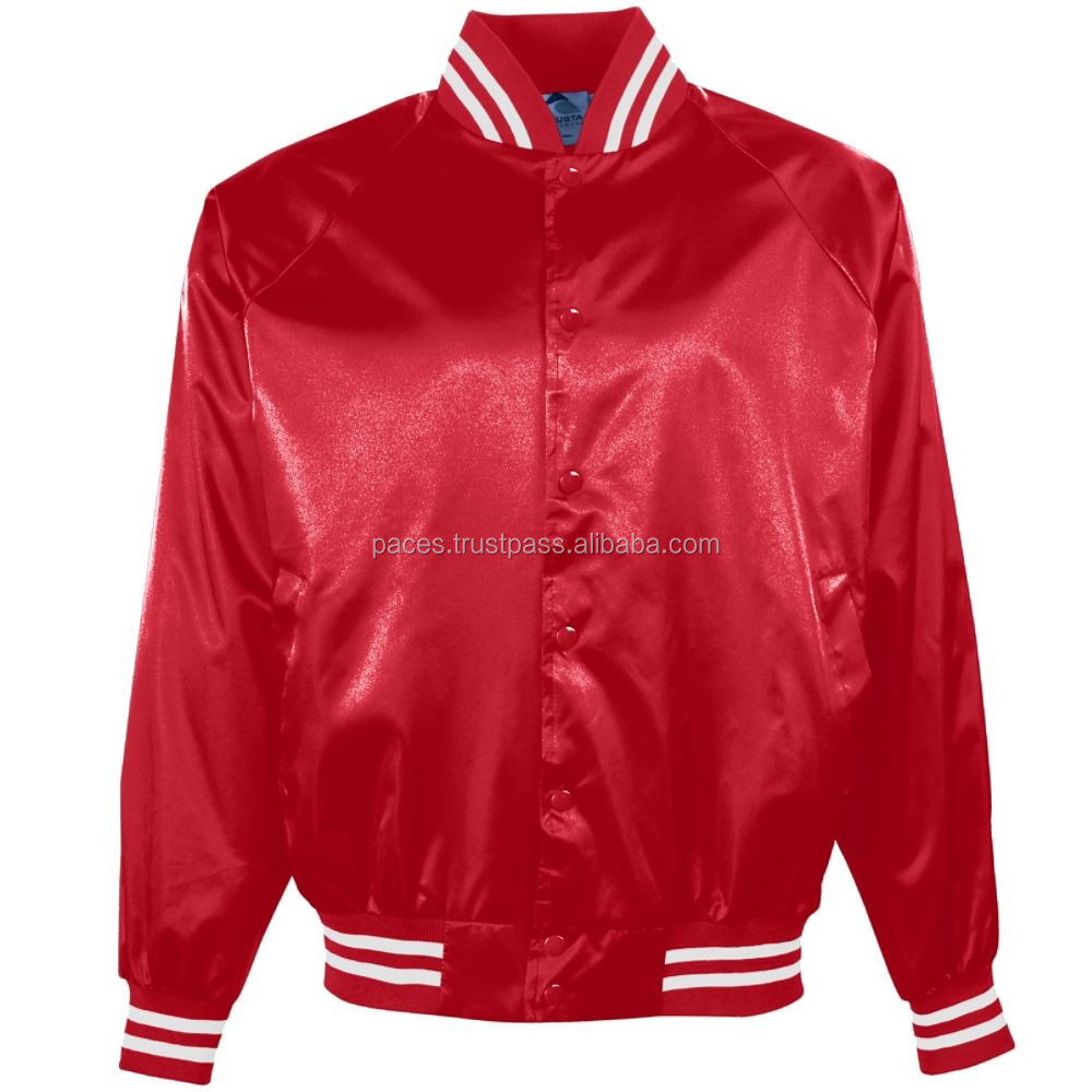 Satin Baseball Jacket Custom - Coat Nj
