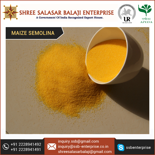 Best Brand Maize Semolina for Food Processing Industries at Wholesale Rate